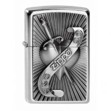 Heart With Sword Zippo Lighter